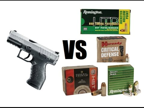 Walther PPX 9mm VS Hollow Points