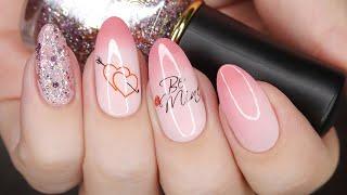 ТЕРМОЛАК Маникюр на день влюбленных Дизайн ногтей на 14 февраля обычный лак