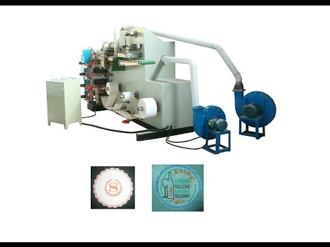 Full automatic three colors printing tissue paper coaster making machine