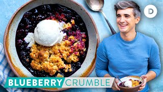RECIPE: The Easiest BLUEBERRY Crisp Crumble! 6 Ingredient DESSERT!