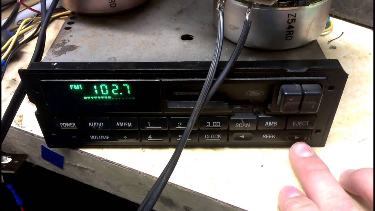 Mustang Radio Wiring Diagram Ford Escort Stereo Head Unit 1994 Youtube