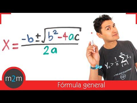 Ecuaciones cuadráticas por fórmula general