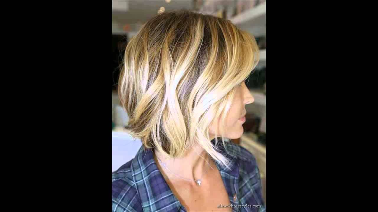 Angled layered bob haircut - YouTube