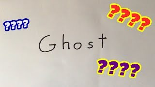 """How To Draw A Ghost Cartoon Using The Word """"Ghost """""""