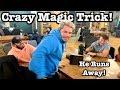 Crazy Magic Tricks! | Guy Runs Away!