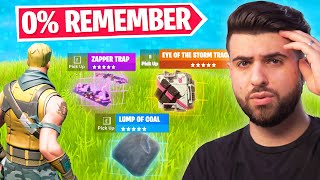 Fortnite Items NO ONE Remembers...