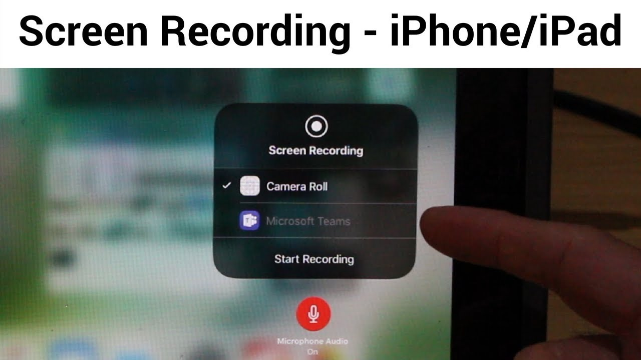 does ios screen recording record audio