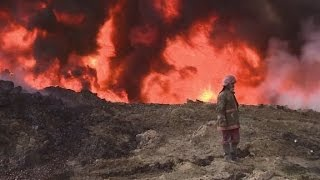 ISIS' aftermath leaves Iraqi town ablaze
