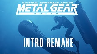 Metal Gear Solid 1998 Intro - Remake 2018 [4K] [UHD]