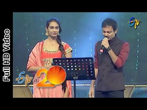 Ravivarma and Anjana Sowmya - Thugo Jilla Pilla Pago Jilla Song in Eluru ETV @ 20 Celebrations