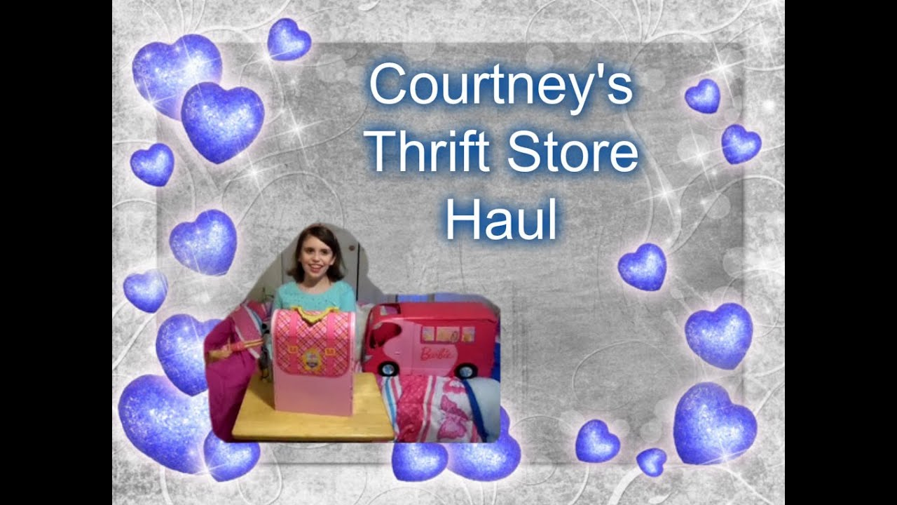 Courtney s thrift store haul barbie american girl youtube