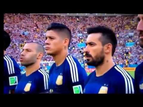 World Cup Final 2014 national anthem germany -Himno Nacional argentina