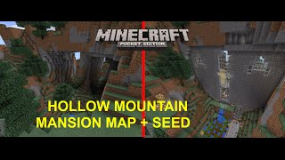 [MCPE 0.16.1] EPIC HOLLOW MOUNTAIN MANSION MAP + SEED | MINECRAFT PE