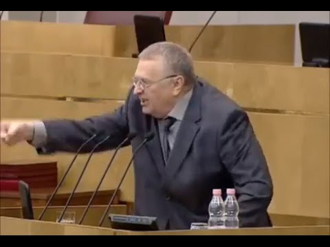 Russian politician Zhirinovsky rages at ''United Russia'' (English subs)