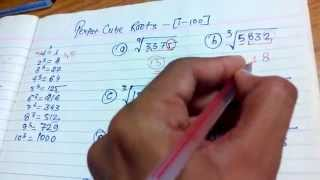 Find out Cube Roots (1 to 100) in 3 sec. by vedic maths
