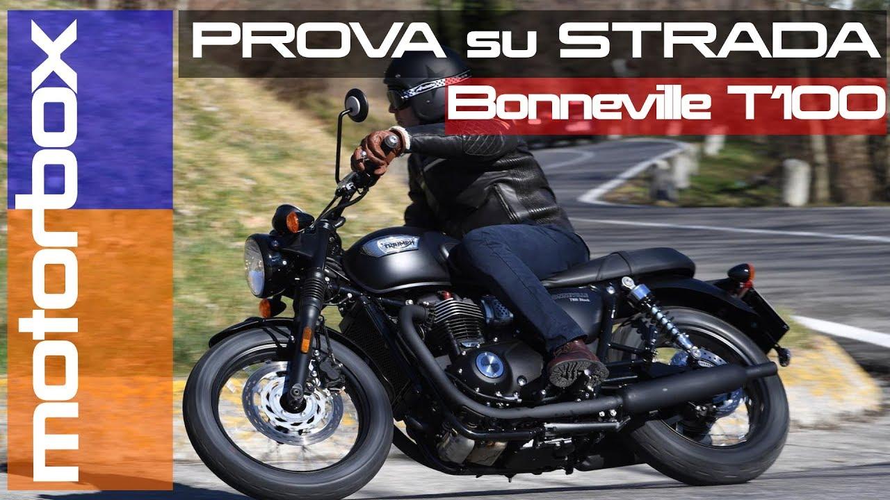 Triumph Bonneville T100 Black La Prova Della Classica