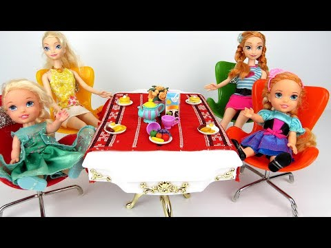 Thumbnail: Morning Routine ! Elsa and Anna toddlers - One is Sleepy - Breakfast - Kitchen