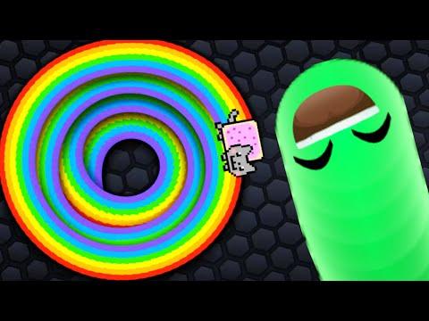 Slither.io NEW Secret Skins Mod Nyan Cat Vs Invisible Ninja Live Stream!