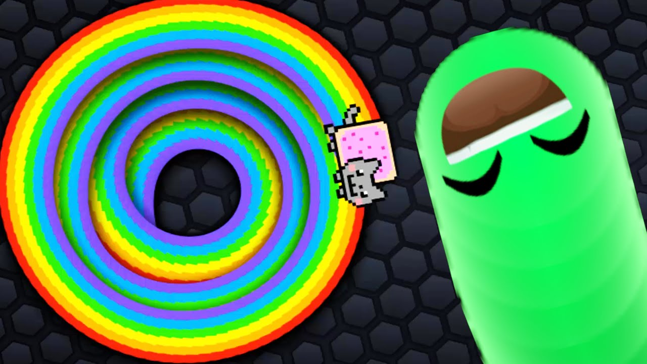 Slither Io New Secret Skins Mod Nyan Cat Vs Invisible
