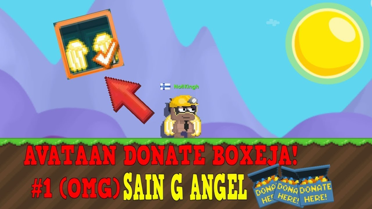 GOLDEN ANGELIT! AVATAAN DONATE BOXEJA #1 GROWTOPIA SUOMI