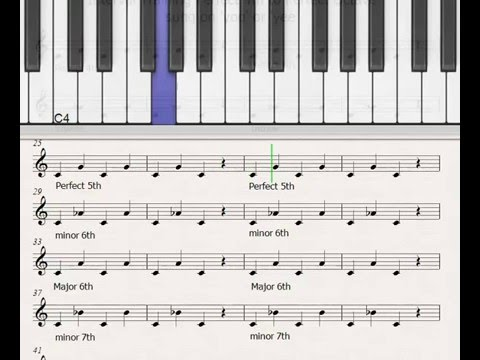 Ear Training Intervals - Perfect 4th to Perfect Octave