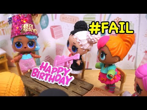 BARBIE Puts On A Birthday Party For LOL SURPRISE DOLL Sparkles!
