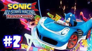 Sonic & All Stars Racing Transformed Wii U - World Tour - Part 2