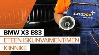 BMW X3 Korjaussarja, alapallo / pallonivel vaihto: ohjekirja