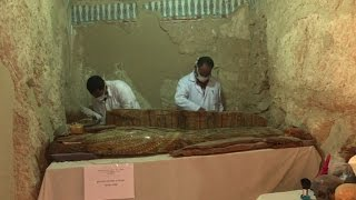Mummies discovered in ancient tomb near Egypt's Luxor