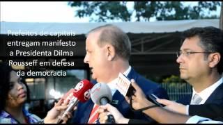 Em Brasília, prefeito de Goiânia explica apoio de prefeitos a Dilma