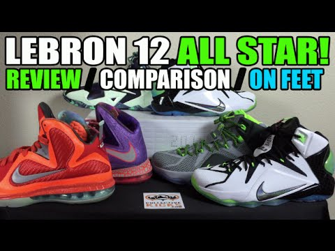 buy online aedac 195b9 Nike Lebron 12 All Star Review   Comparison   On Feet (XII AS NYC 2015)