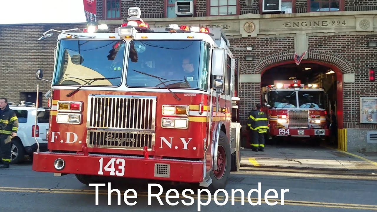 [FDNY] EVERYBODY GOES! ENGINE 294 + TILLER 143 - PRIVATE DWELLING