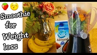 Smoothie for Weight Loss: My Delicious Breakfast Replacement Meal | Kale, Fruits & Flax Seed