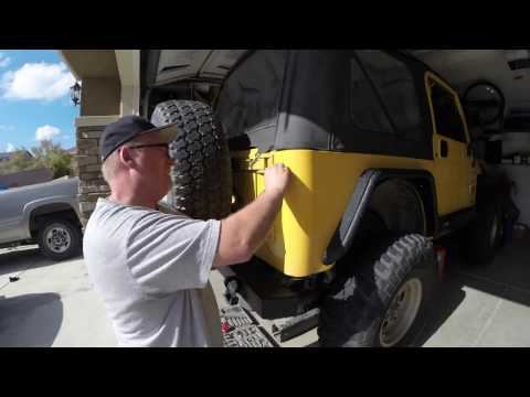 jeep wrangler tail lights wiring installation led tail light install 2000 jeep tj youtube  led tail light install 2000 jeep tj