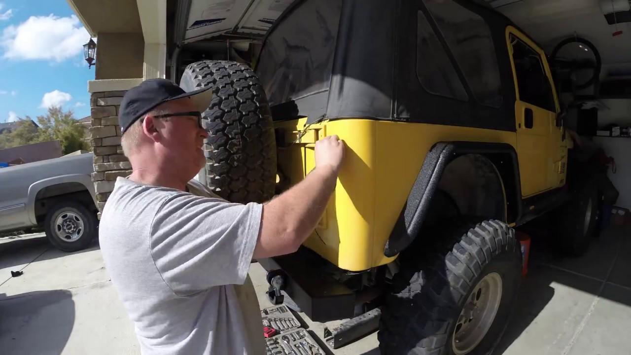 led tail light install 2000 jeep tj [ 1280 x 720 Pixel ]
