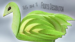 Fruits Decoration - 6 in 1 Fruit Decoration - fruit bouquet - Fruit Carving - Simple Crafts