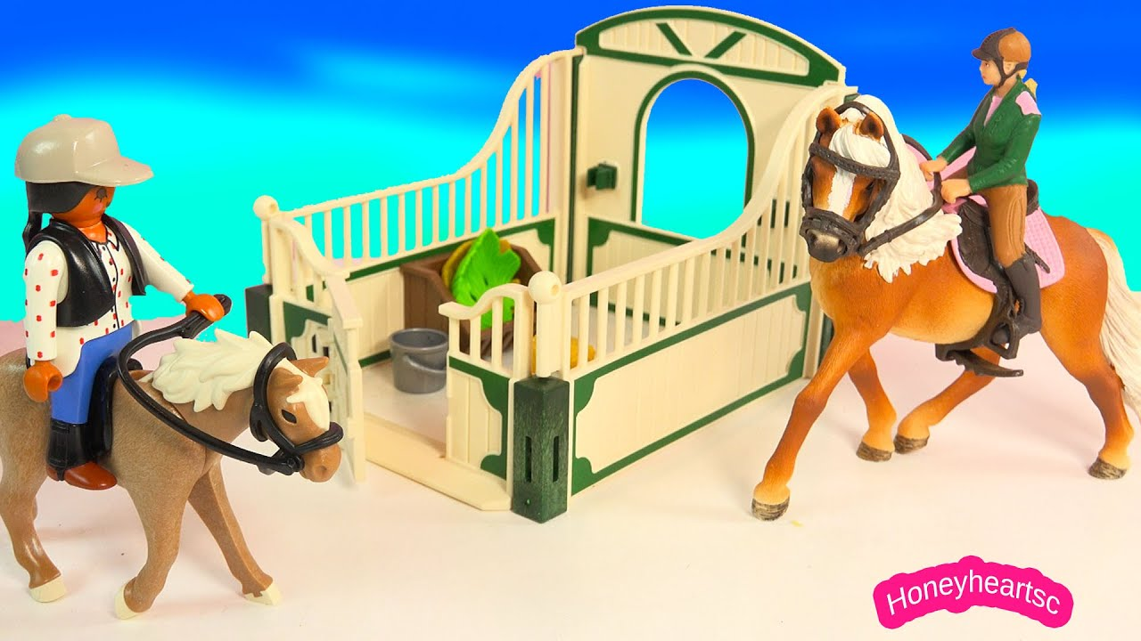 Playmobil Country Palomino Horse Rider, Tack and Stall Playset Unboxing Toy Video Honeyheartsc