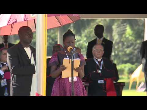 Pope in Uganda - Meeting with youth at Kololo Air Strip in Kampala
