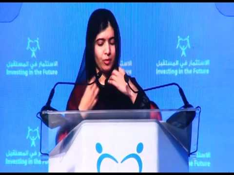 Malala  yousafzai  speech   women and girls  conference in UAE.