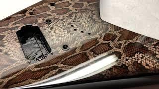 USA Jackson King V KV2T Guitar - Custom Rattlesnake snake skin paint job by Sims