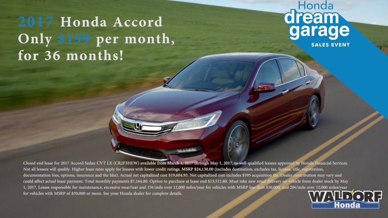 Honda Accord Lease Special