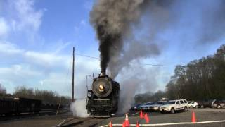 Steam excursion 2013:  SOUTHERN 630 @ Asheville NC (Part 1: warm-up & system check)