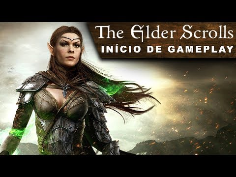 Elder Scrolls Online (ESO) Início de Gameplay – Primeira Meia Hora (Conhecendo o Game) PT-BR