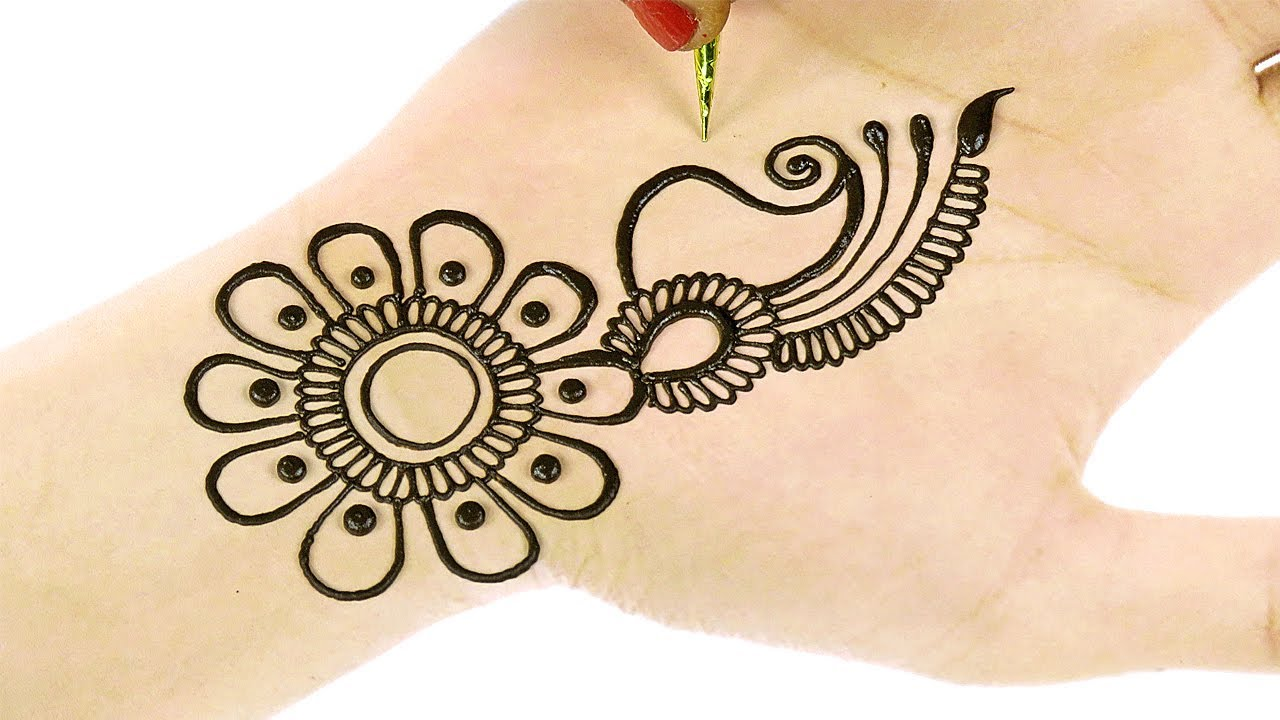 Mehndi Hands With Watch : Easy beautiful arabic henna mehndi designs d