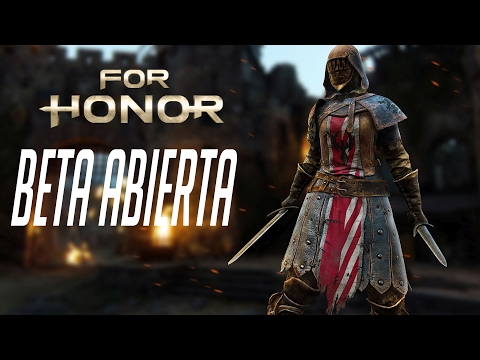 For Honor  BETA ABIERTA - Mis primeras partidas en PVP, VICIO TOTAL!!!!  - Gameplay Español