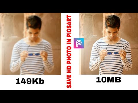 Save HD photo in picsart || get HD quality Pic || picsart editing tutorial