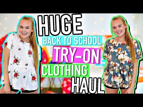 HUGE Back To School Try-On Clothing Haul | ROMWE, American Eagle, H&M, + more!
