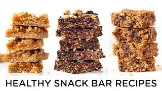 HEALTHY VEGAN SNACK IDEAS ‣‣ 3 gluten-free snack bars