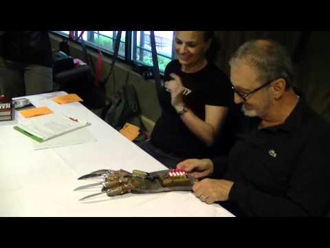 Robert Englund signs his first Power Glove replica!