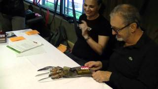 Robert Englund signs his first Power Glove replica!